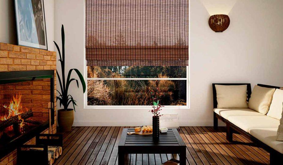 cortinas romanas Bambú